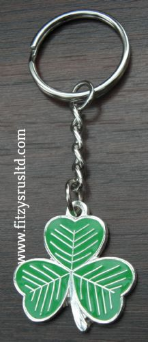 Irish Shamrock Keyring Ireland Eire Gaelic Key Ring St Patricks Day Gift